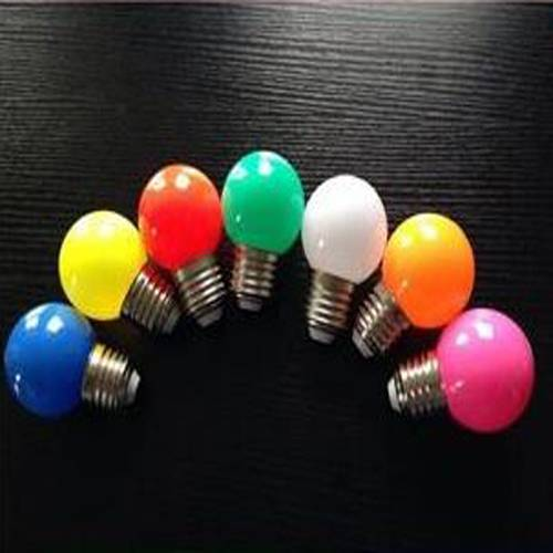 colour mini bulb 2016 new 180 degree pc cover led bulb e27 0.5W 1W led colour mini bulb