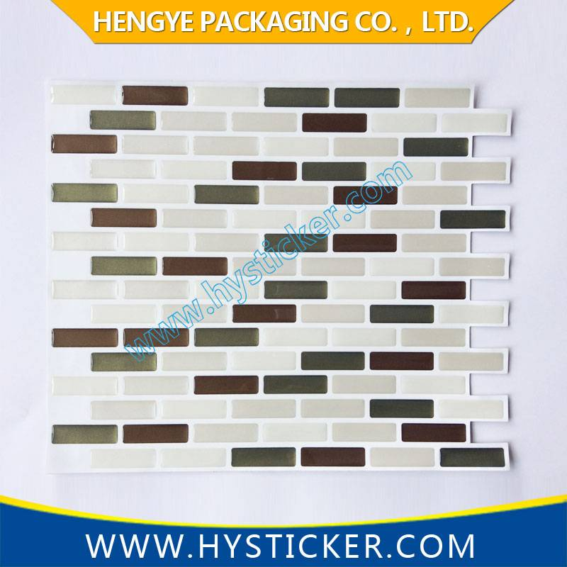 Custom Design Waterproof Removable Bathroom Tile Wall Sticker for Home Decor