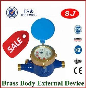 Multi jet dry dial brass body Class B Water Meter LXSG-15E-50E