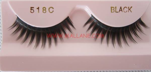 PBT Fiber From Korea Natural False Eye Lashes Synthetic Strip Lashes