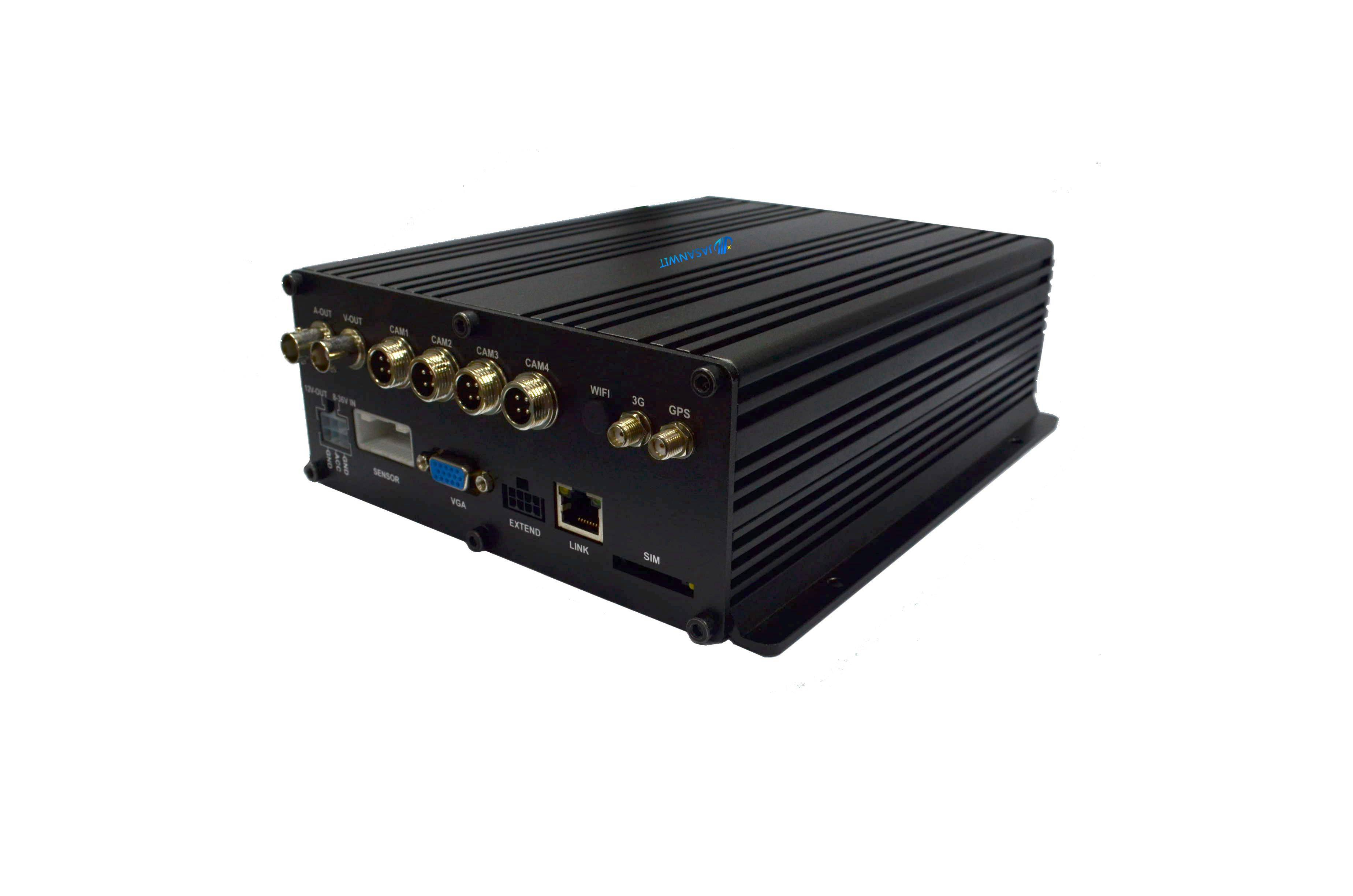 4 ch dual SD card mobile DVR from Top 3 manufacturer Jasanwit with 3G GPS WIFI tracking on Google ma