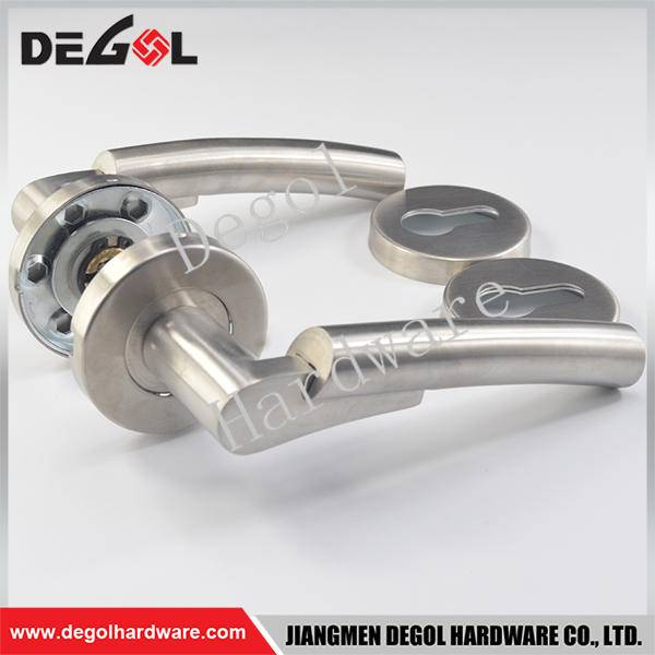 Custom stainless steel solid lever rust proof door handles