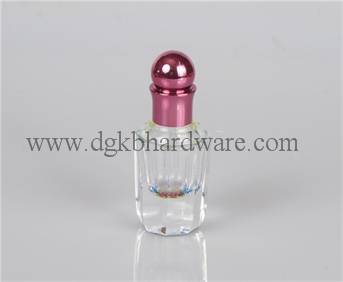 3ml glass perfume bottle with high quality metal cap