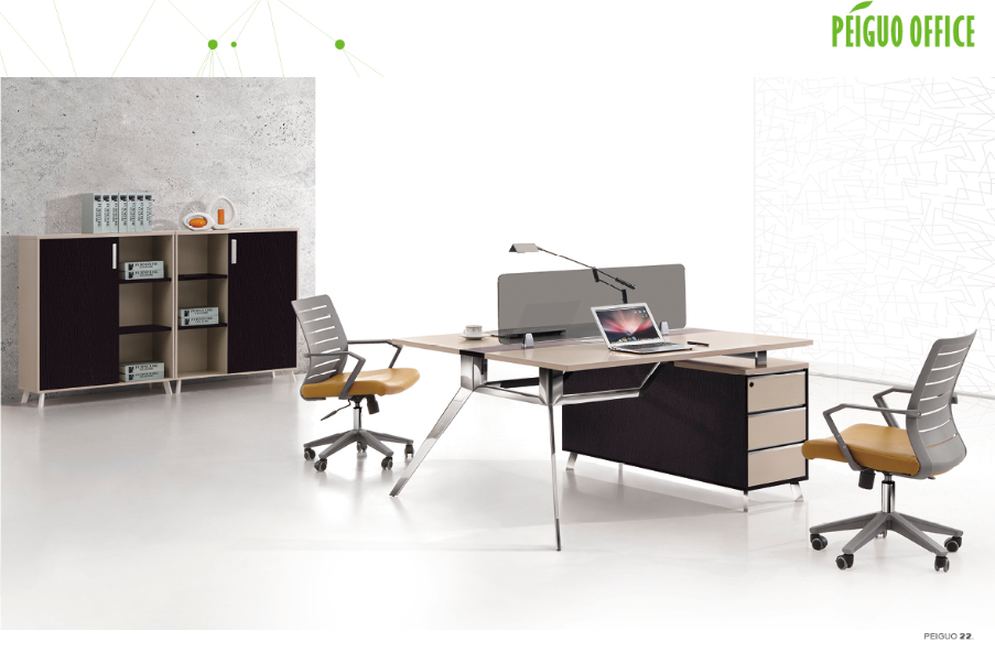 Open style staff table modern office table design PG-F16A-2C