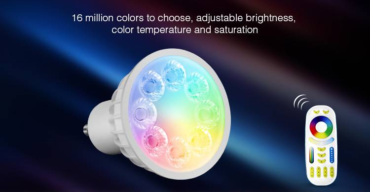 4W REAL POWER CREE led bulb Dimmable RGBW smart GU10 MR16 Led spot Light Spotlight led lamp bulbs do
