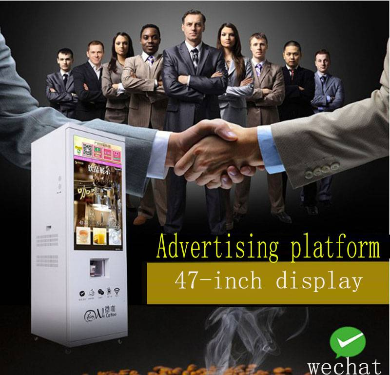 Big Screen Coffee Vending Machine Automaitc falling cup