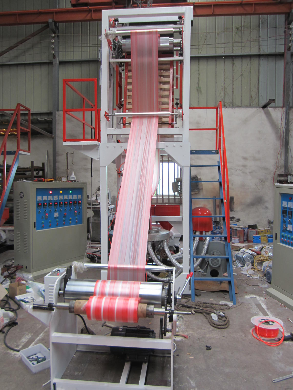 Double-color Stripped Film Blow Machine