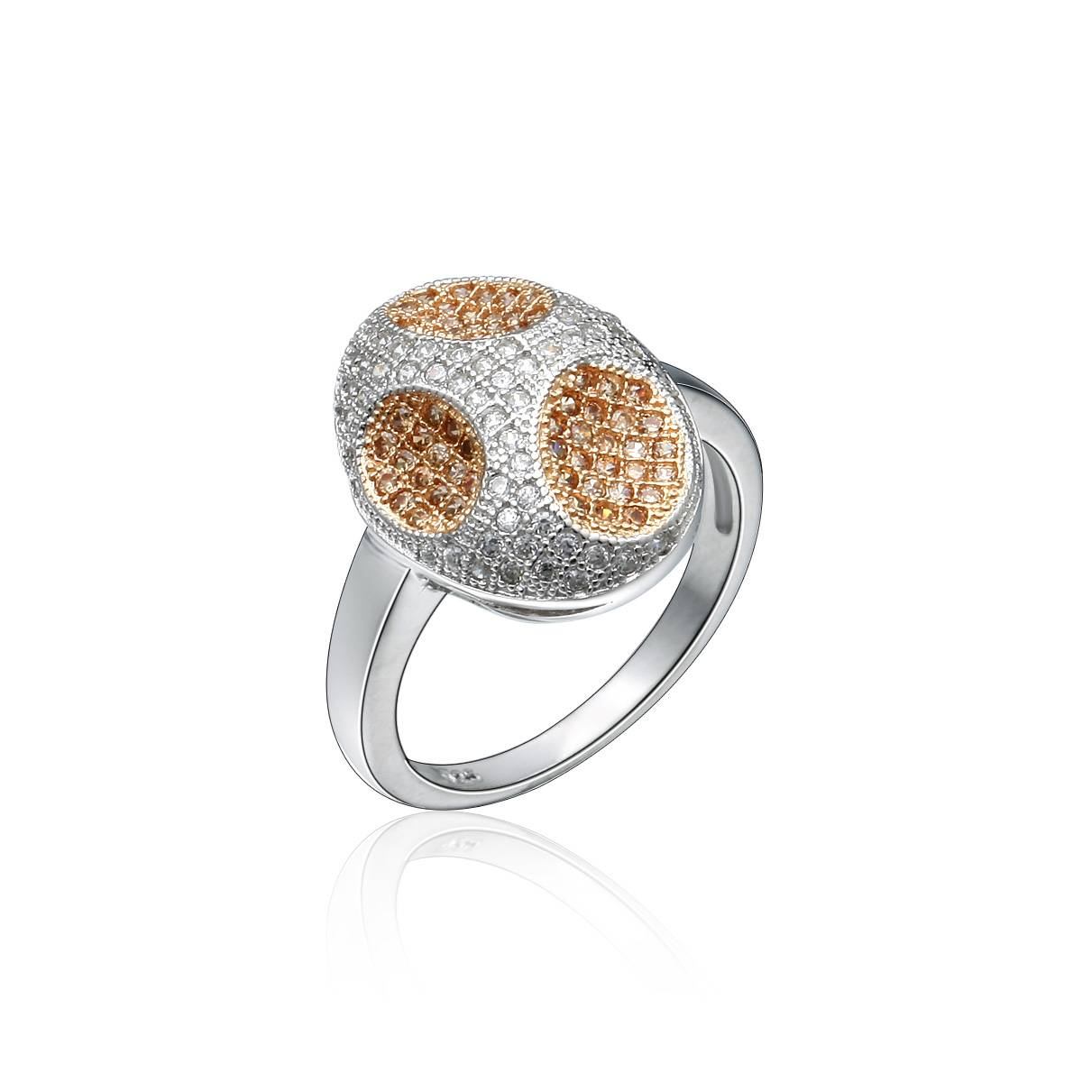 925 Silver Ring with Micropave CZ Jewelry Wholesale