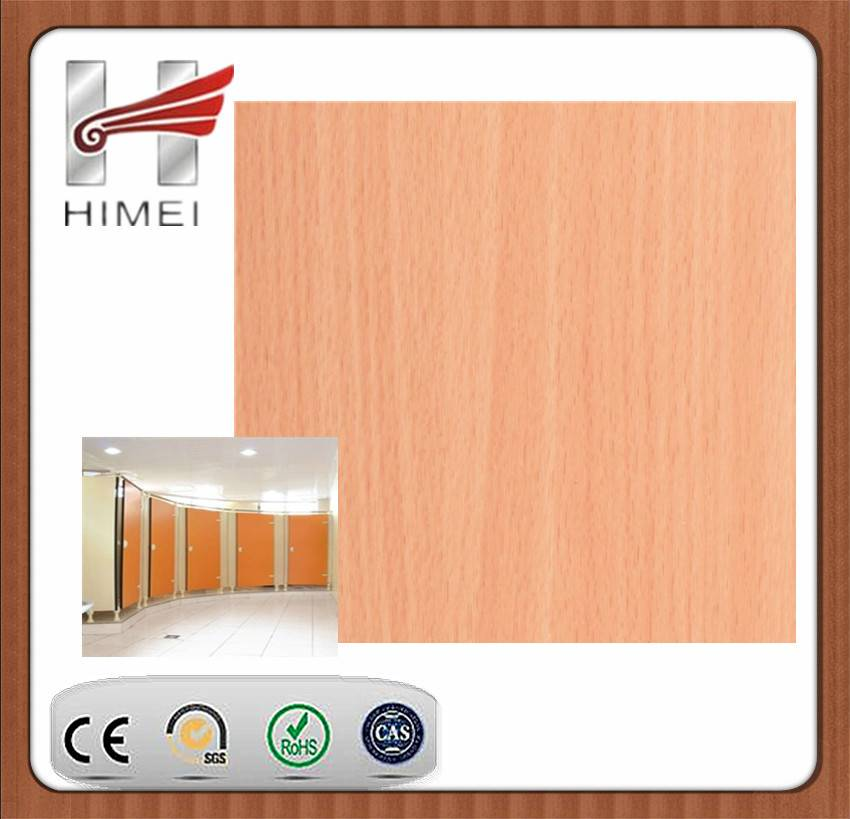 PVC film laminated metal sheet for toilet partition