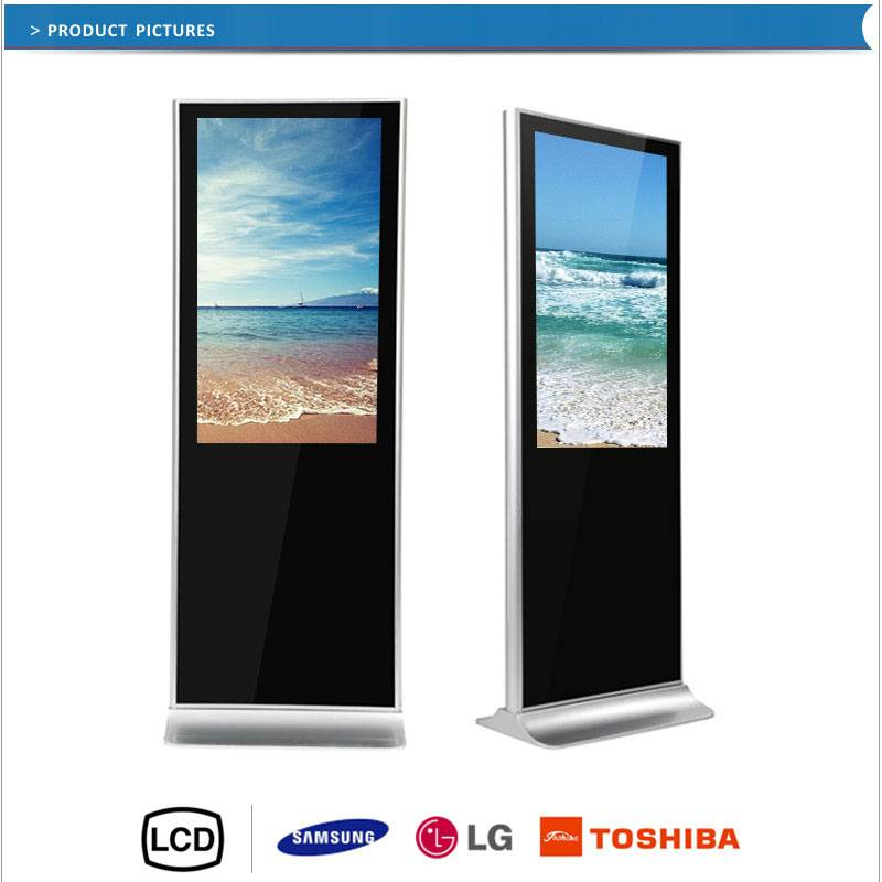 the competitive price 65inch touch screen panel indoor advertising machine with floor standing