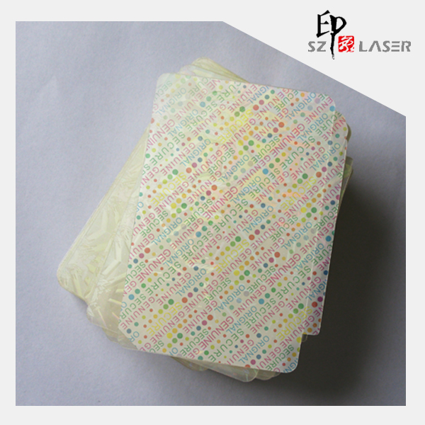 125 microns hologram hot laminating pouch film