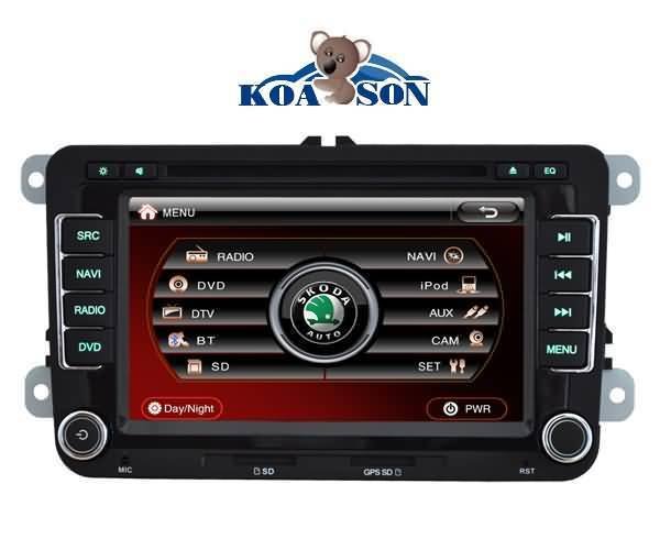Skoda/SEAT Car DVD Player with 7-Inch Touch Screen/Canbus/DTV(optional)/TMC(optional)/Radio(RDS)/DVD