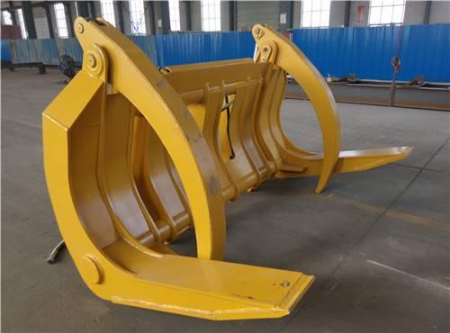 Brand new excavator/wheel loader/trailer/crane log grapple