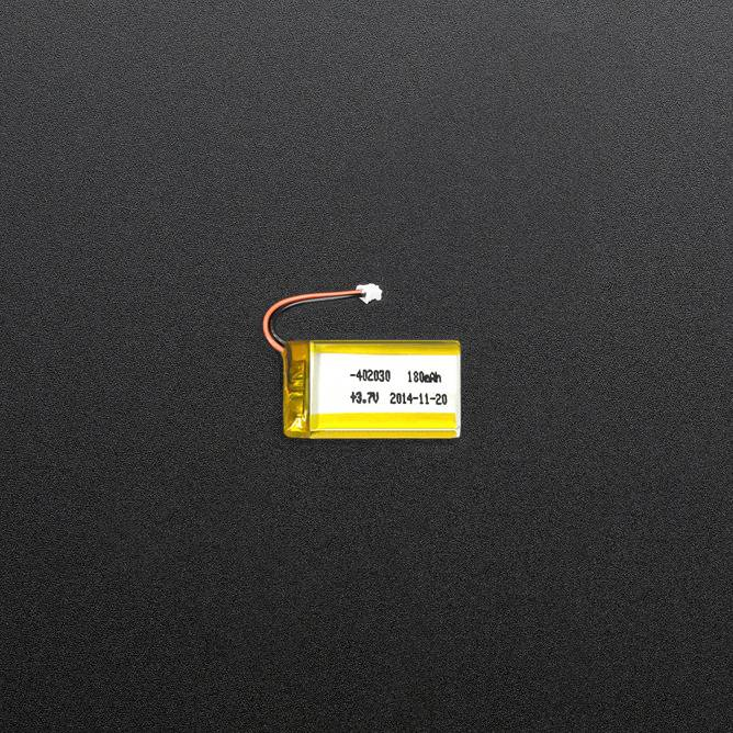 3.7V 180mAh Polymer Li-ion Battery 402030 li-polymer battery