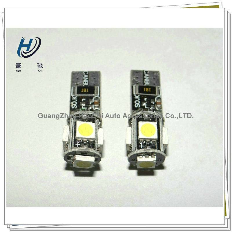 china supplier w5w 5smd 5050 smd led t10 canbus