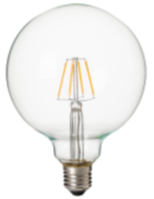 LED G125 BULB 8W 800 LUMEN FILAMENT GLASS EU MODEL RETRO HOUSE OFFICE USED CLASSIC ITEM CHANDELIER