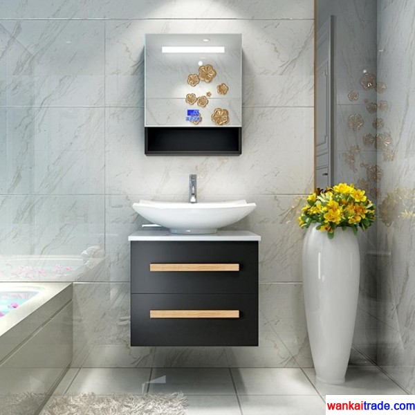 New style bathroom vanity with senior wooden paint and bluetooth music player