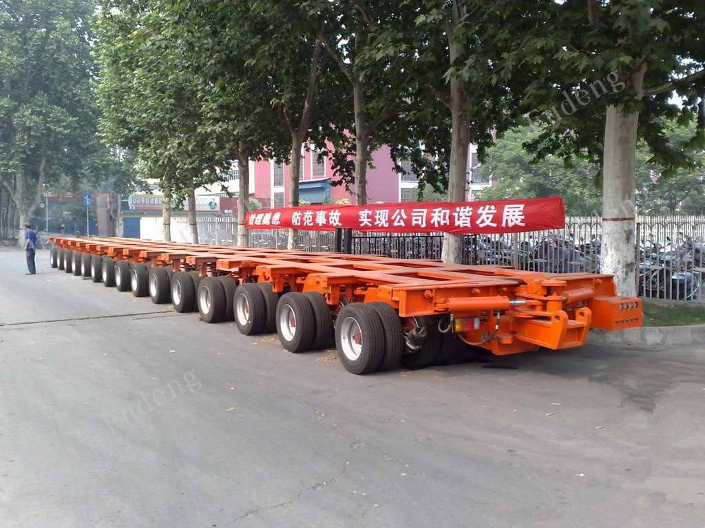 Fudeng brand modular trailer , multi axle hydraulic low bed trailer , self-propelled modular transpo