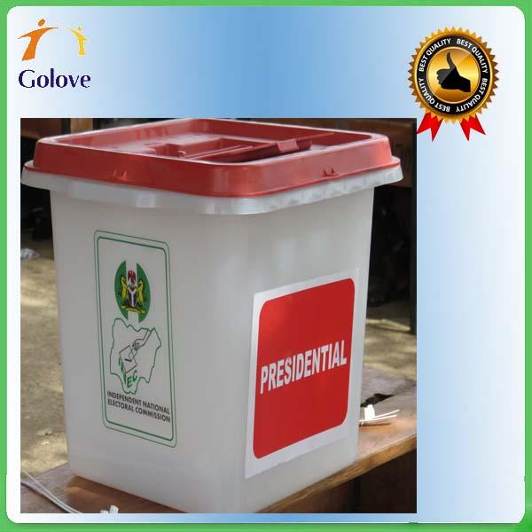 China Alibaba Transparent Corrugated Plastic Election Box