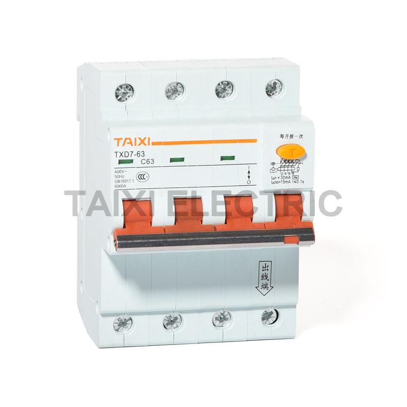 TXD7-63 Residual Current Circuit Breaker rccb