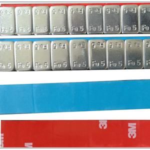 Fe 2.5g x 12 zinc coating bule tape wheel weights