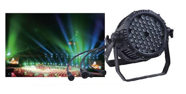 cheapest 54pcs 3w led waterproof par light