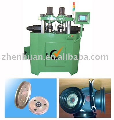 vertical pulley spinning machine
