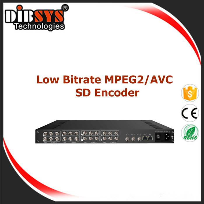 8 channels Low Bitrate MPEG-2/H.264 SD Encoder