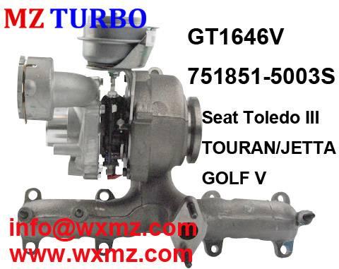Buy MZ TURBO GT1646V 751851-5003s Turbocharger for Seat VW SKODA