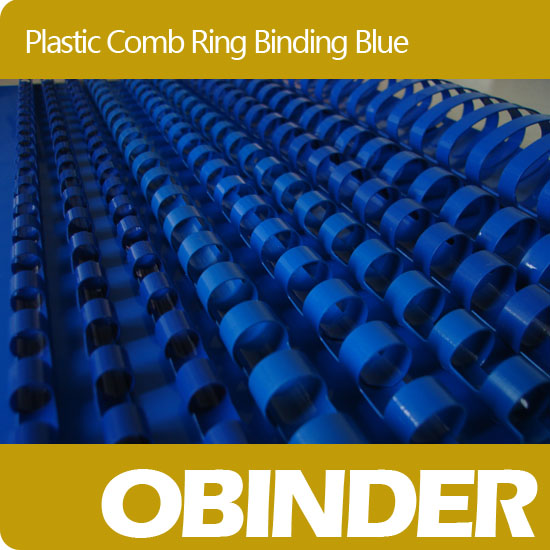 Obinder 21rings plastic comb ring binding blue color