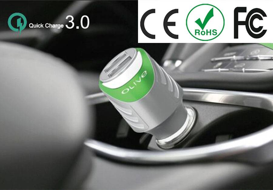 New QC 3.0 Quick Charge 2.4A USB Car charger