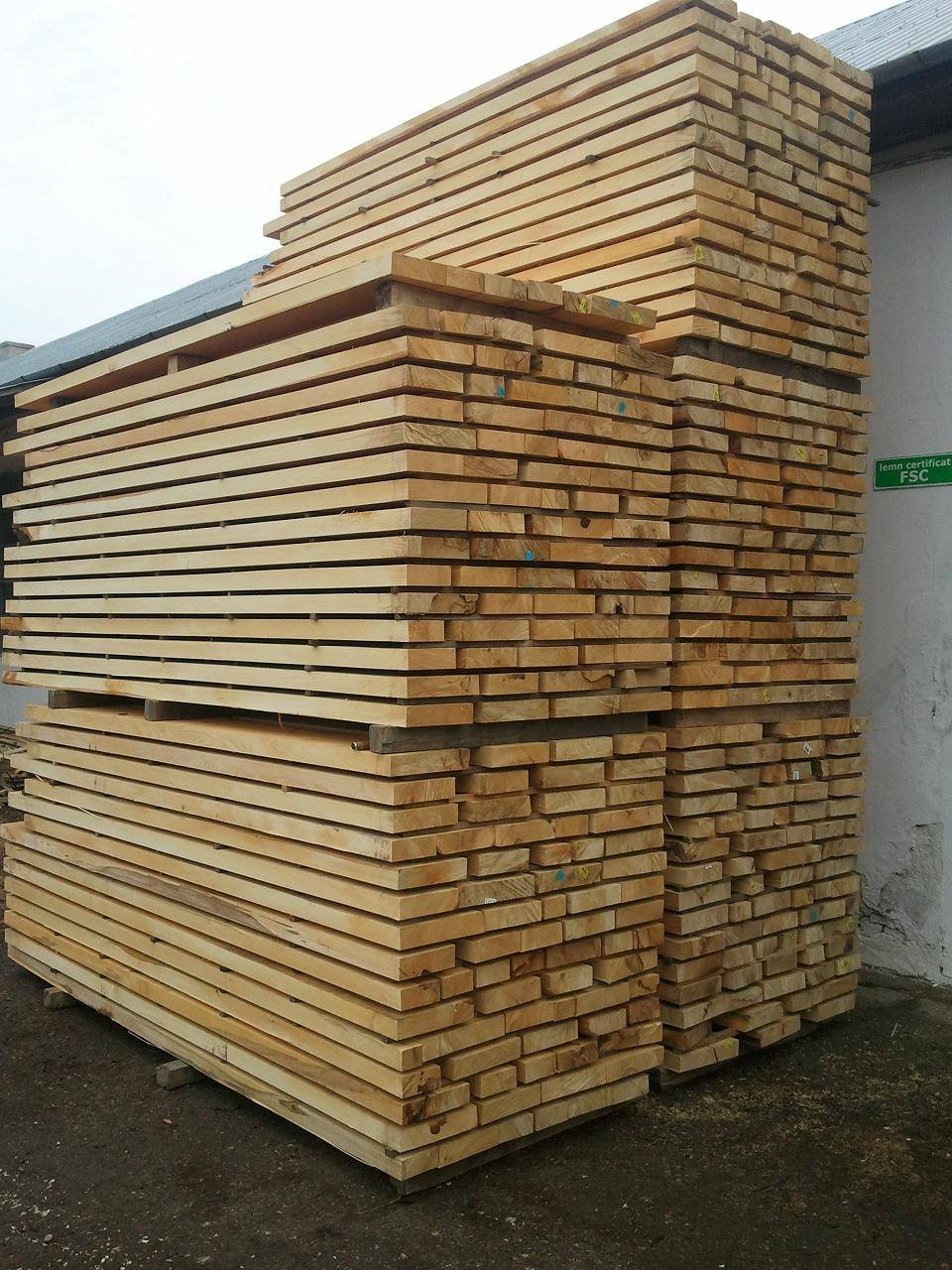 lime, ash, sycamore, cherry and spruce timber