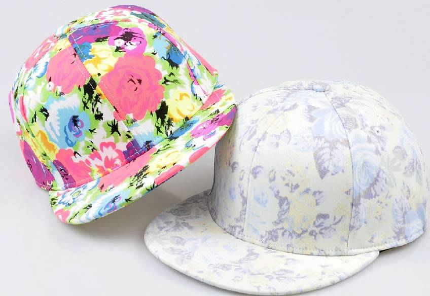 custom floral snapback hat with