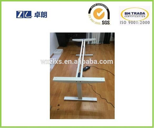 electric height adjust desk with two leg two motor