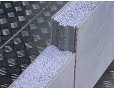 Polystyrene mixed cement wall panel