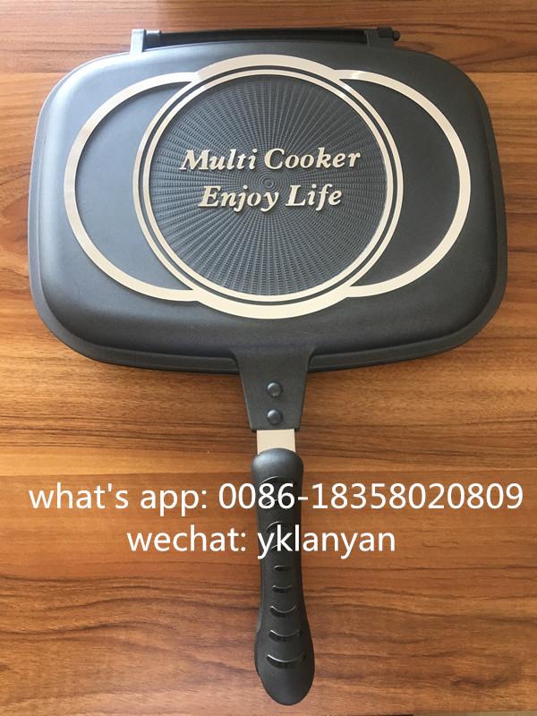 32CM Double grill pan export to Walmart