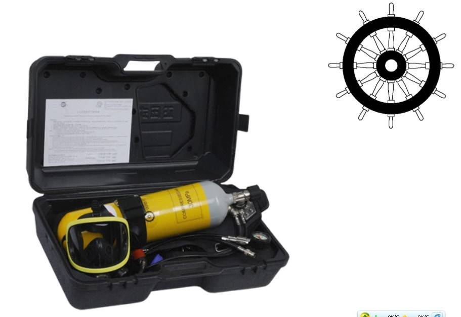 composite fiber cylinder self contained breathing apparatus(RHZK)