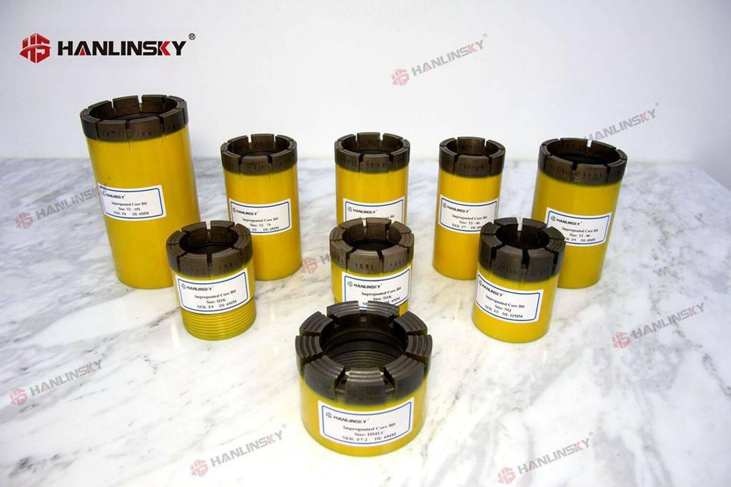 T2-66 T2-76 T2-86 T2-101 Impregnated Diamond Core Drill Bits