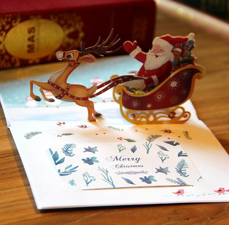High Quality 3D pop up Christmas greeting cards