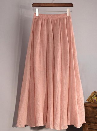 2017 Fashion Brand Women Top quality Linen Cotton Long Skirt