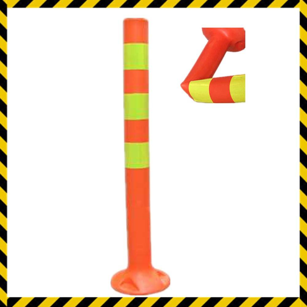 bright color plastic street barrier