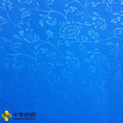 Polyester Blue Embossed Blackout Curtain Fabric