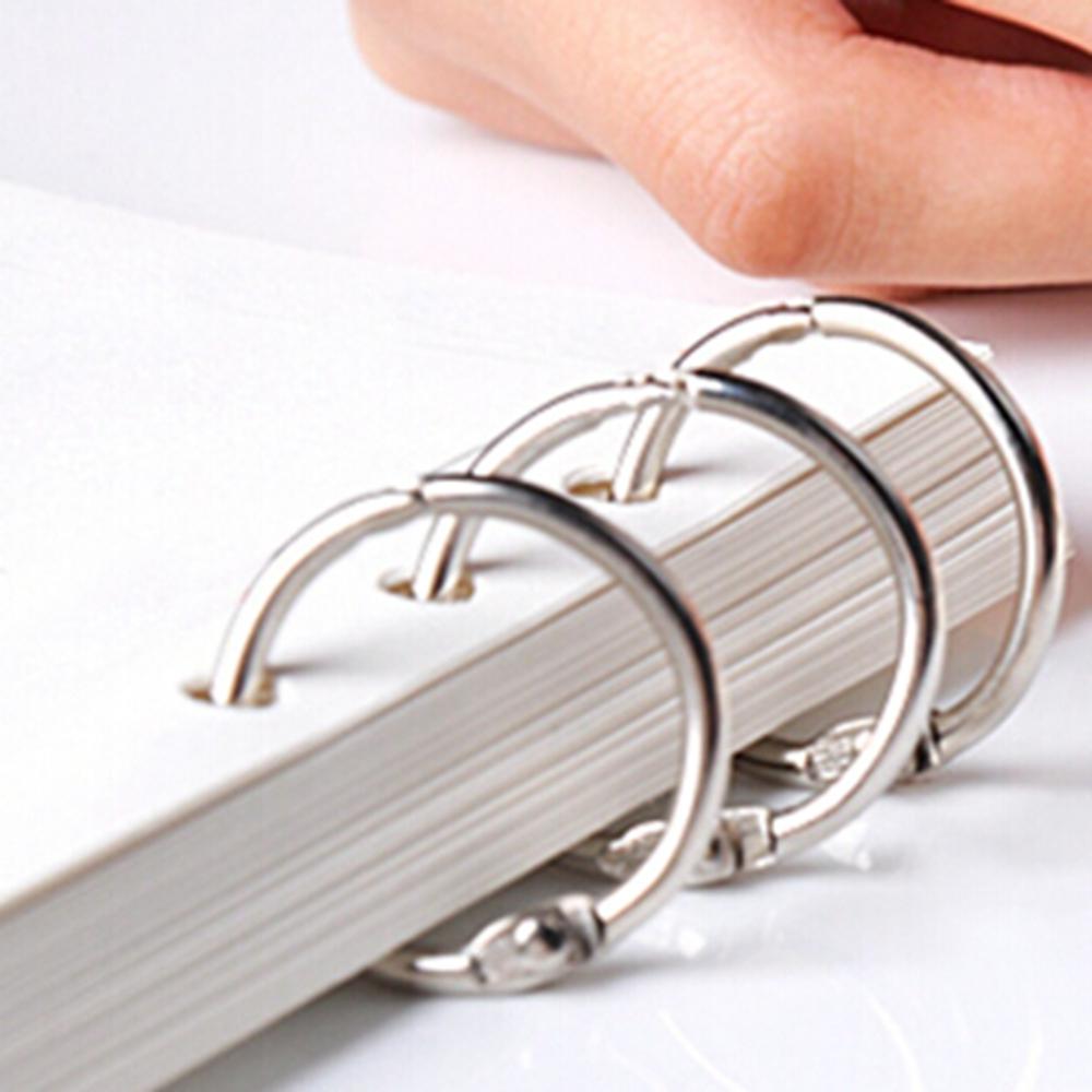 Silver Metal 1.25 Inch Book Binder Craft Ring