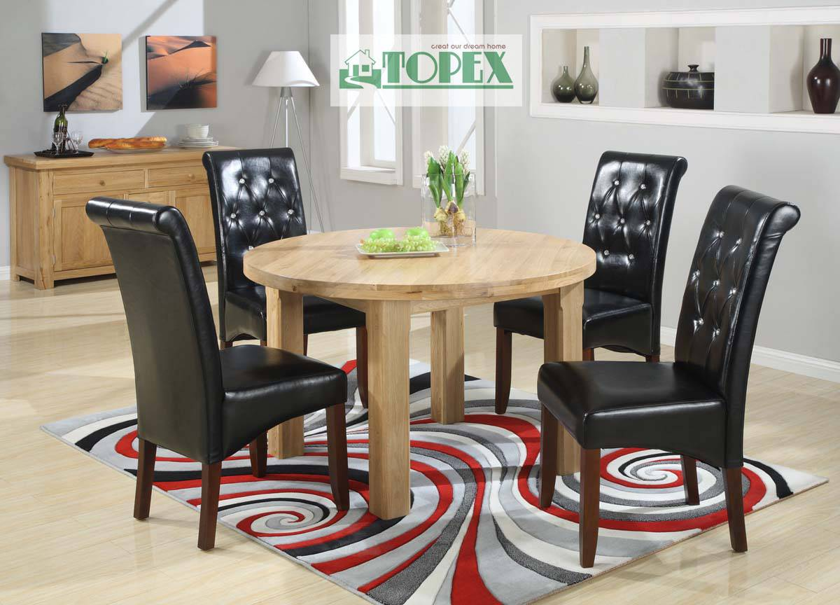 Solid Oak Dinning Table-Round