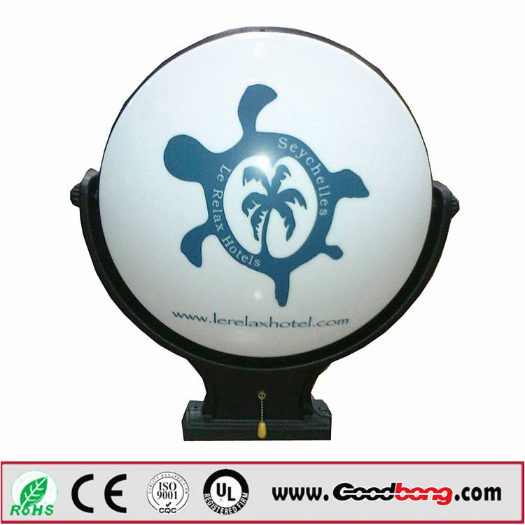 3D Acrylic Formed Mould Backlit Rotating light box