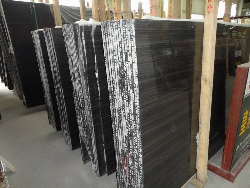 Wooden-Black-Marble-Mosaic