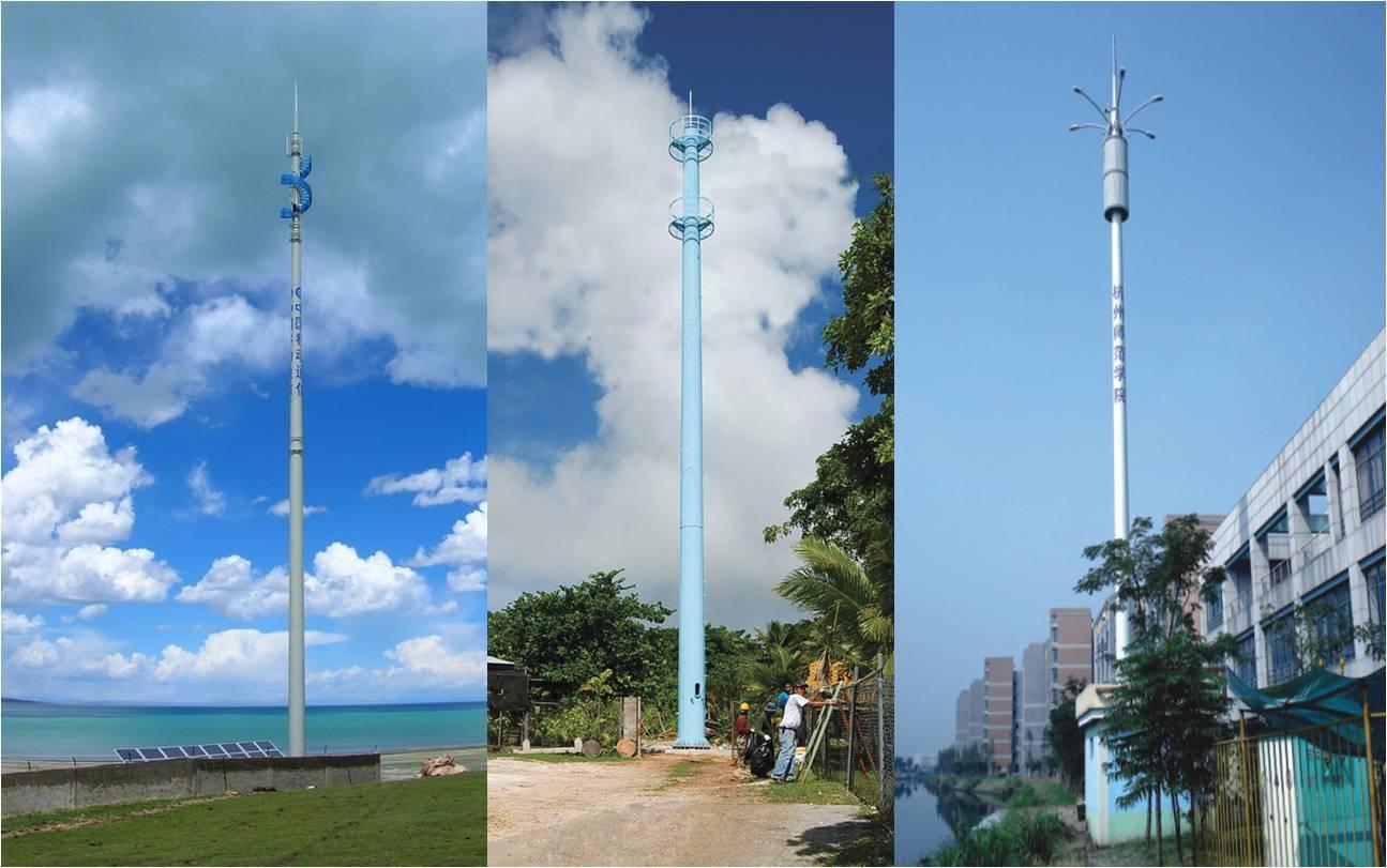 Telecommunication Monopole Tower - Krurah Energy & Technologies Co