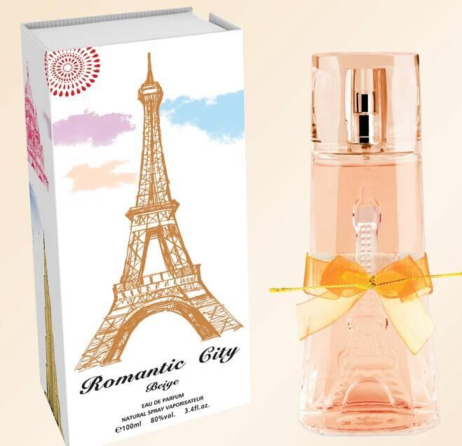 Romantic city Paris orange women perfume