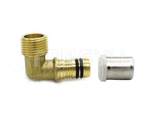 Brass male pex elbow P170X