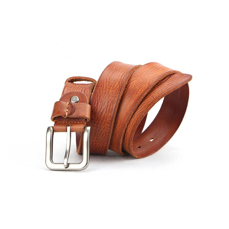 Men's Casual Jean Belt with Top Grain Leather